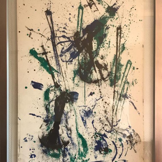 violons-et-archers-bleue-verte-noire-mouvementcom-art-galerie-nice