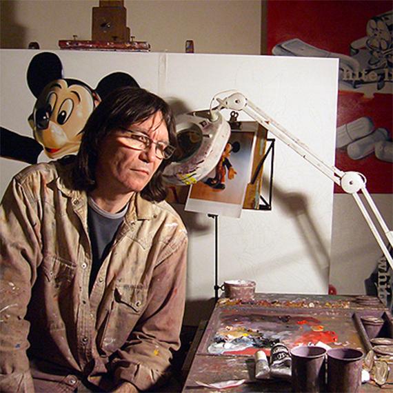 Philippe Huart dans son atelier